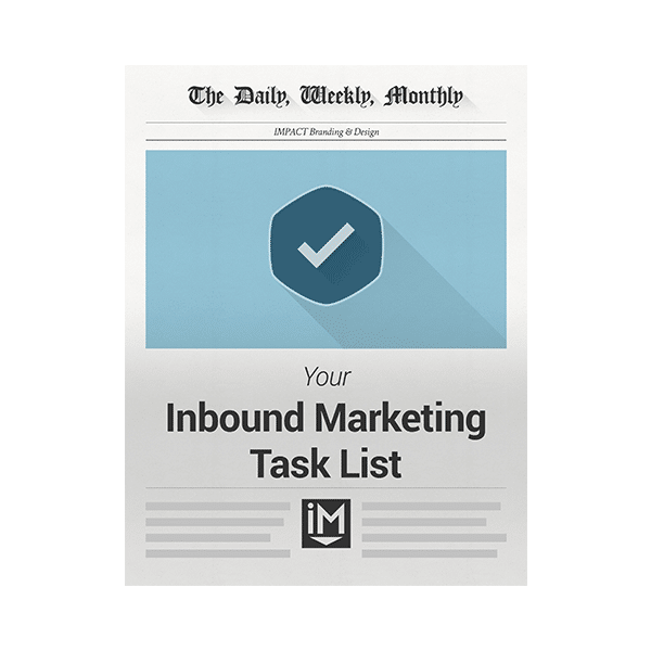 Inbound Marketing Ebook - Inbound Marketing Tasklist - Daily Weekly Monthly