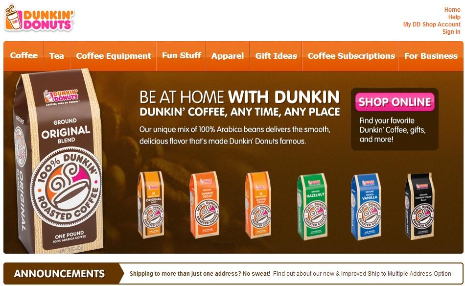 Dunkin Donuts Contrast CTA