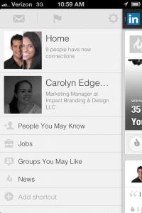 Linkedin mobil app after 1