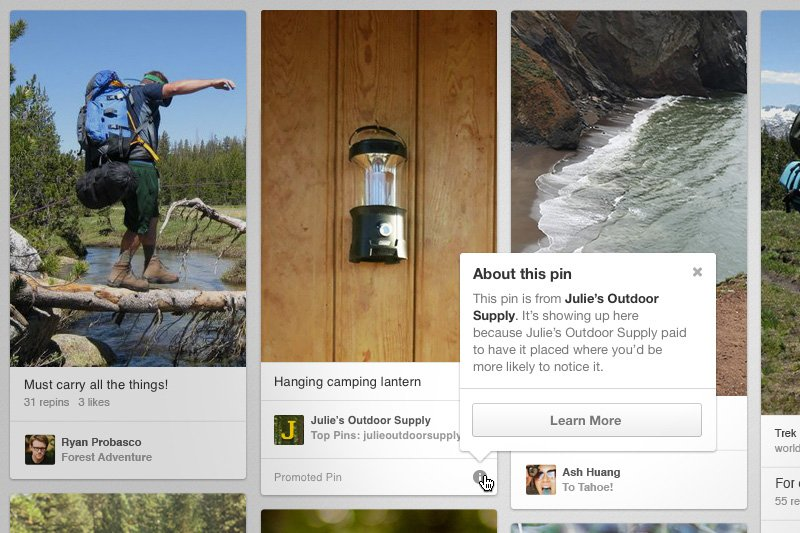 Pinterest unveils new advertising feature