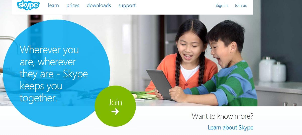 Skype Secondary CTA