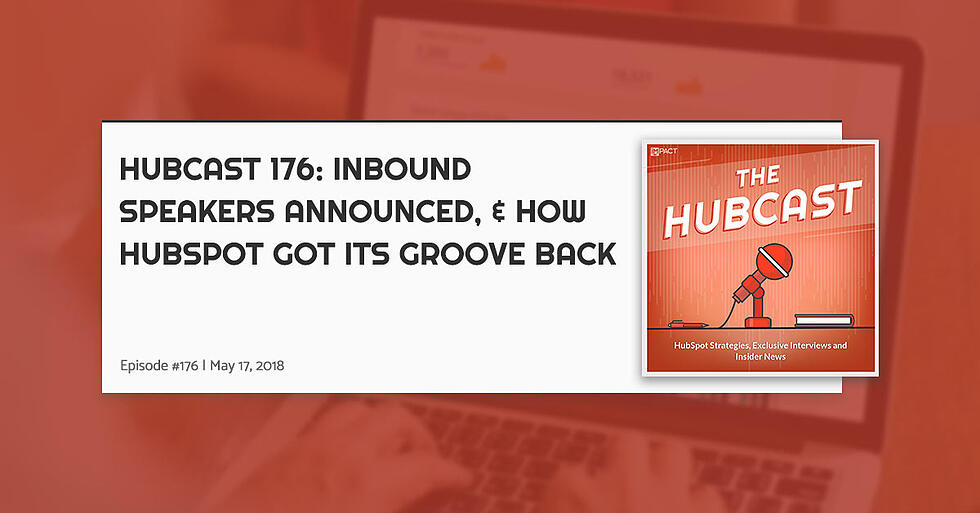 Hubcast 176: INBOUND Speakers Announced, & How HubSpot Got Its Groove Back