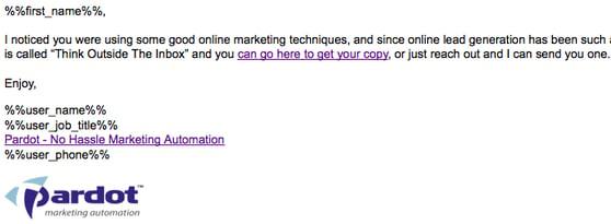 Pardot Dynamic Email