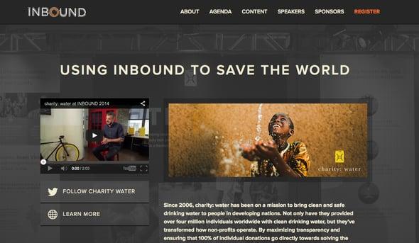 Inbound Charity Water