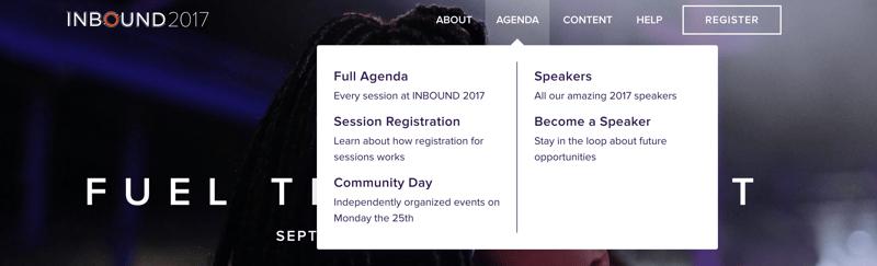 Inbound Agenda