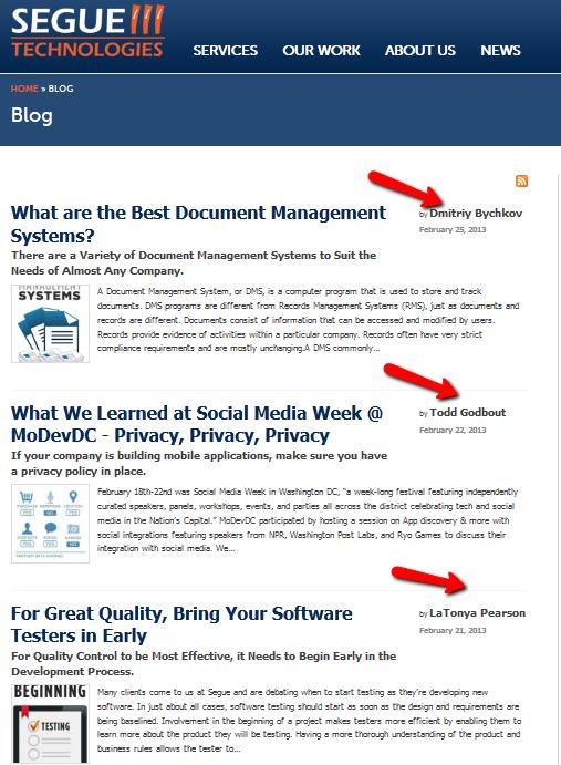 Segue Blog