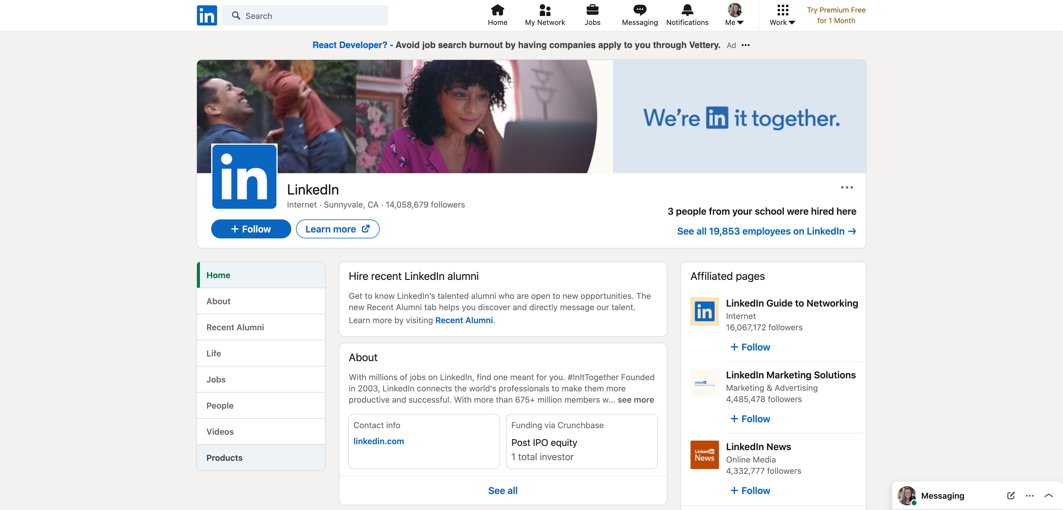 LinkedIn adds new 'Products' highlight tab on company pages