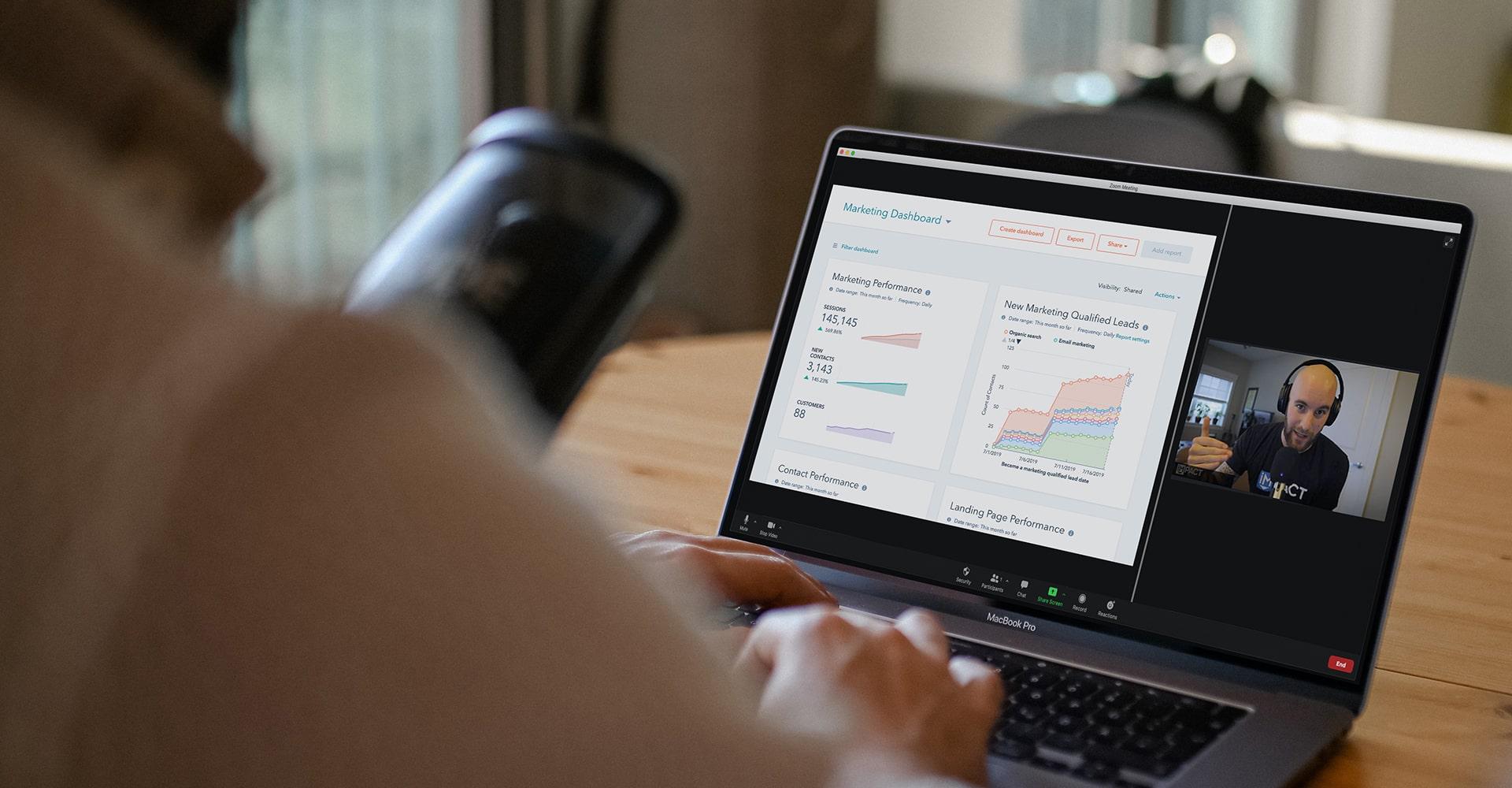 Zach - Digital Sales and Marketing Mastery - Mackbook - HubSpot - Graphs-min