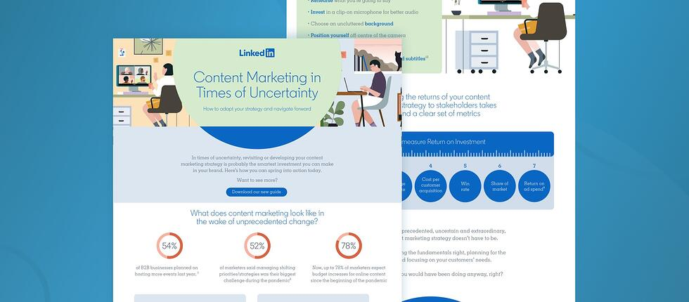 Content marketing in uncertain times: trends and facts to know in the ongoing pandemic [infographic]