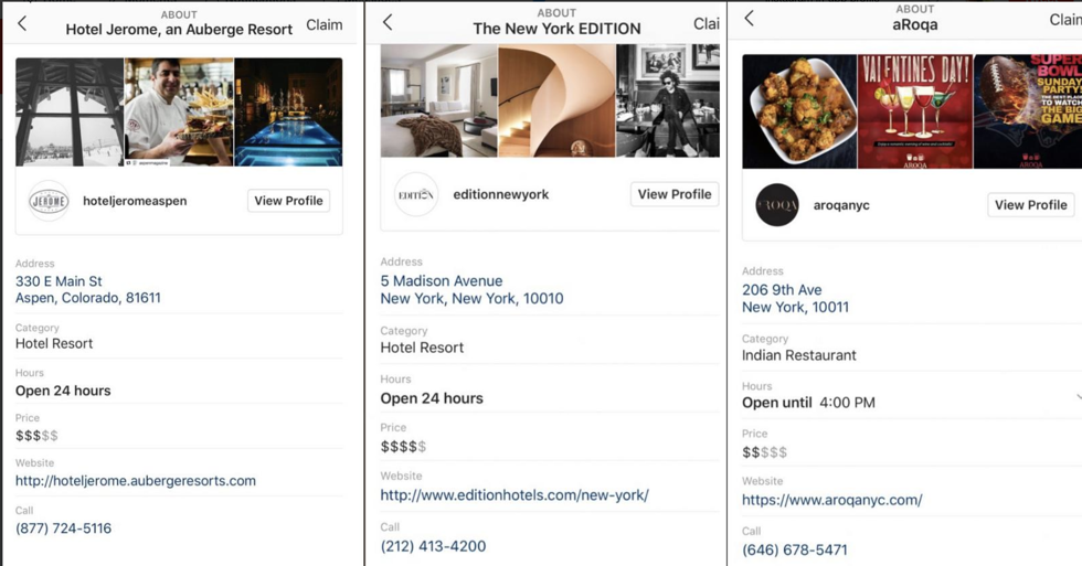 Instagram Is Quietly Testing Local Business Pages In-App