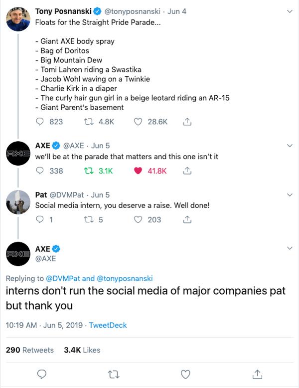 AXE tweet