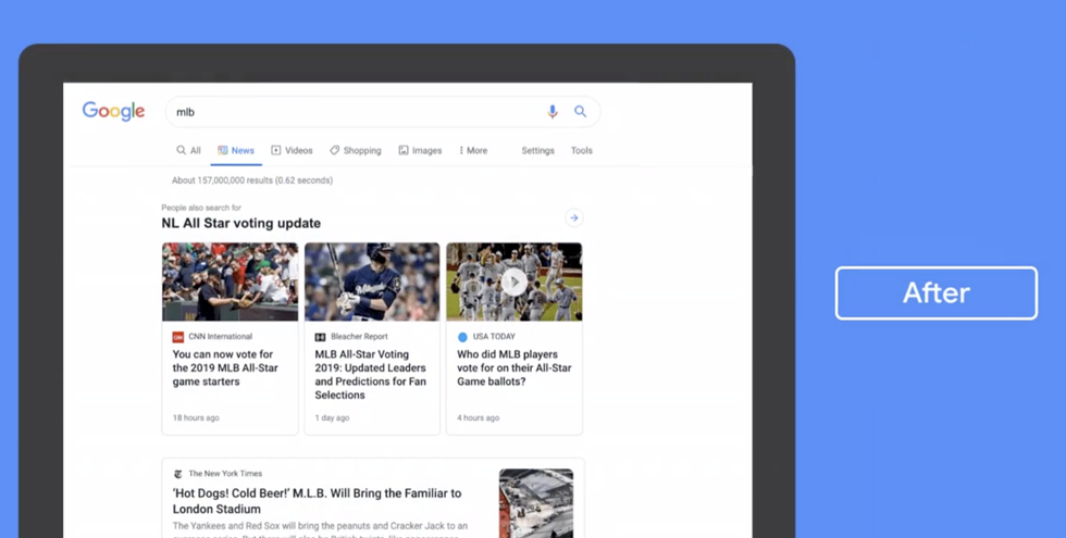 Google Announces Redesign of News Tab in Search