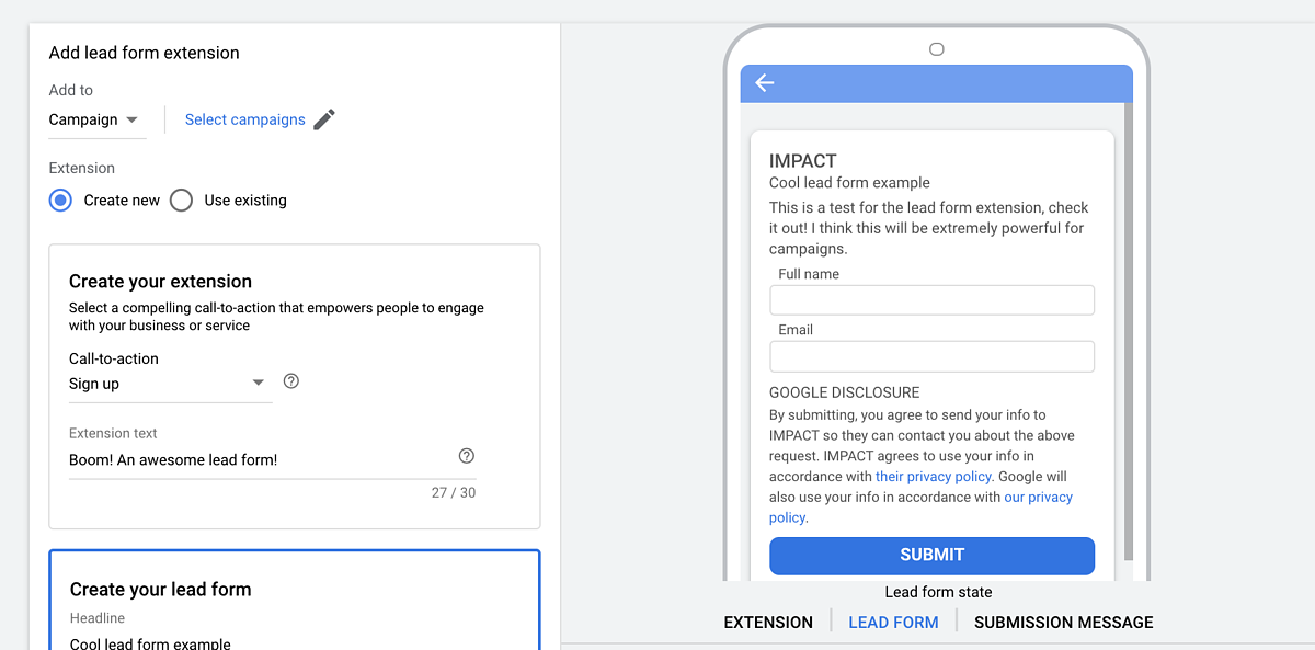 Google Ads to support lead forms in YouTube and Discovery campaigns
