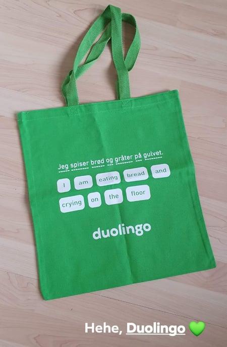 duolingo tote bag