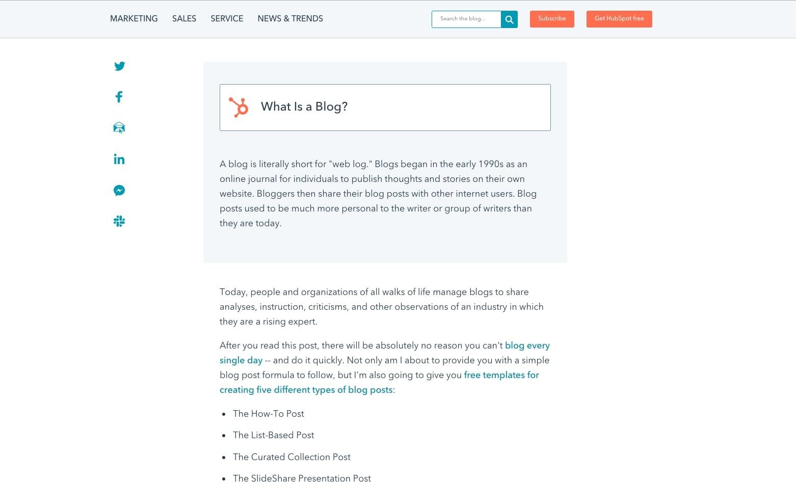 Featured Snippet HubSpot