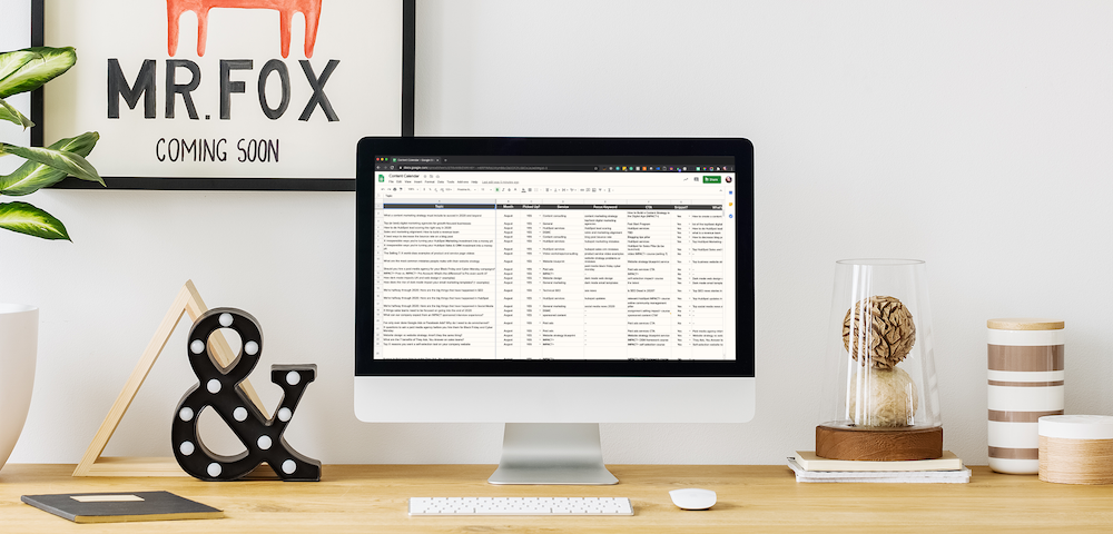 Content calendar template for digital marketers (updated for 2021)