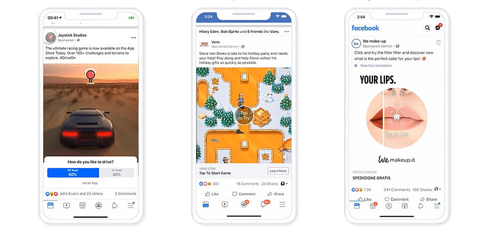 Facebook Rolls Out Video Poll Ads, Expands Playable and AR Ads