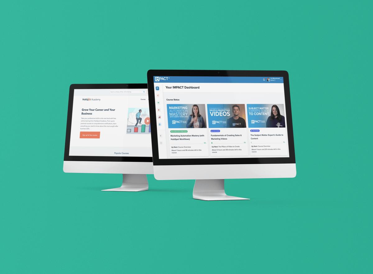 IMPACT+ vs HubSpot Academy: a head-to-head digital marketing training comparison
