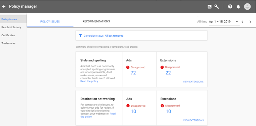 Google Introduces Policy Manager to Help You Navigate Ad Penalties & Regulations