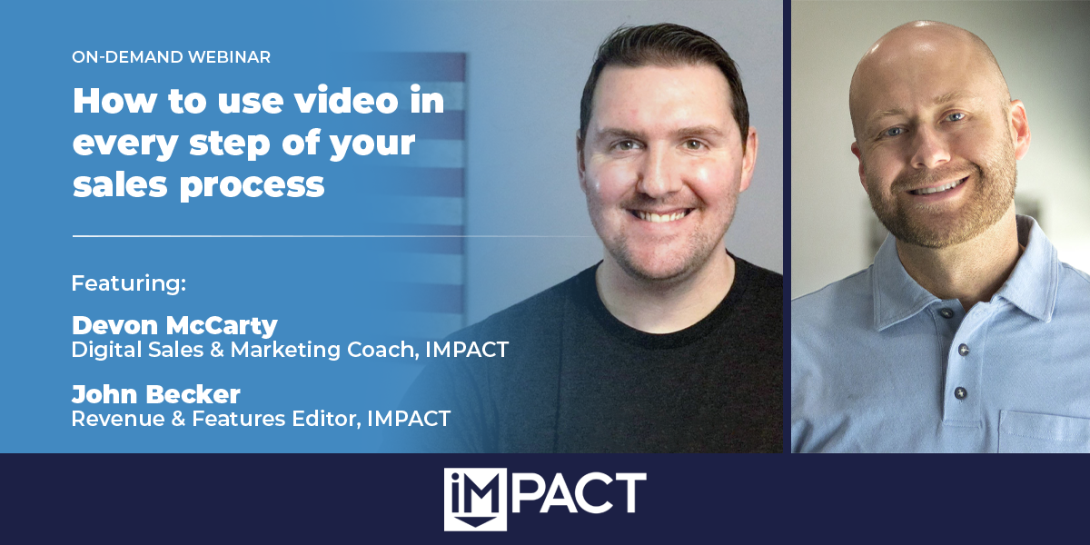 How to use video in every step of your sales process