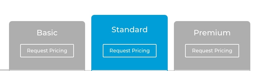 pricing table without pricing