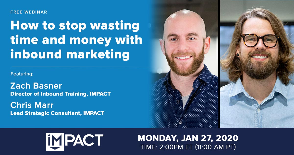 Webinar: How to stop wasting time and money with inbound marketing