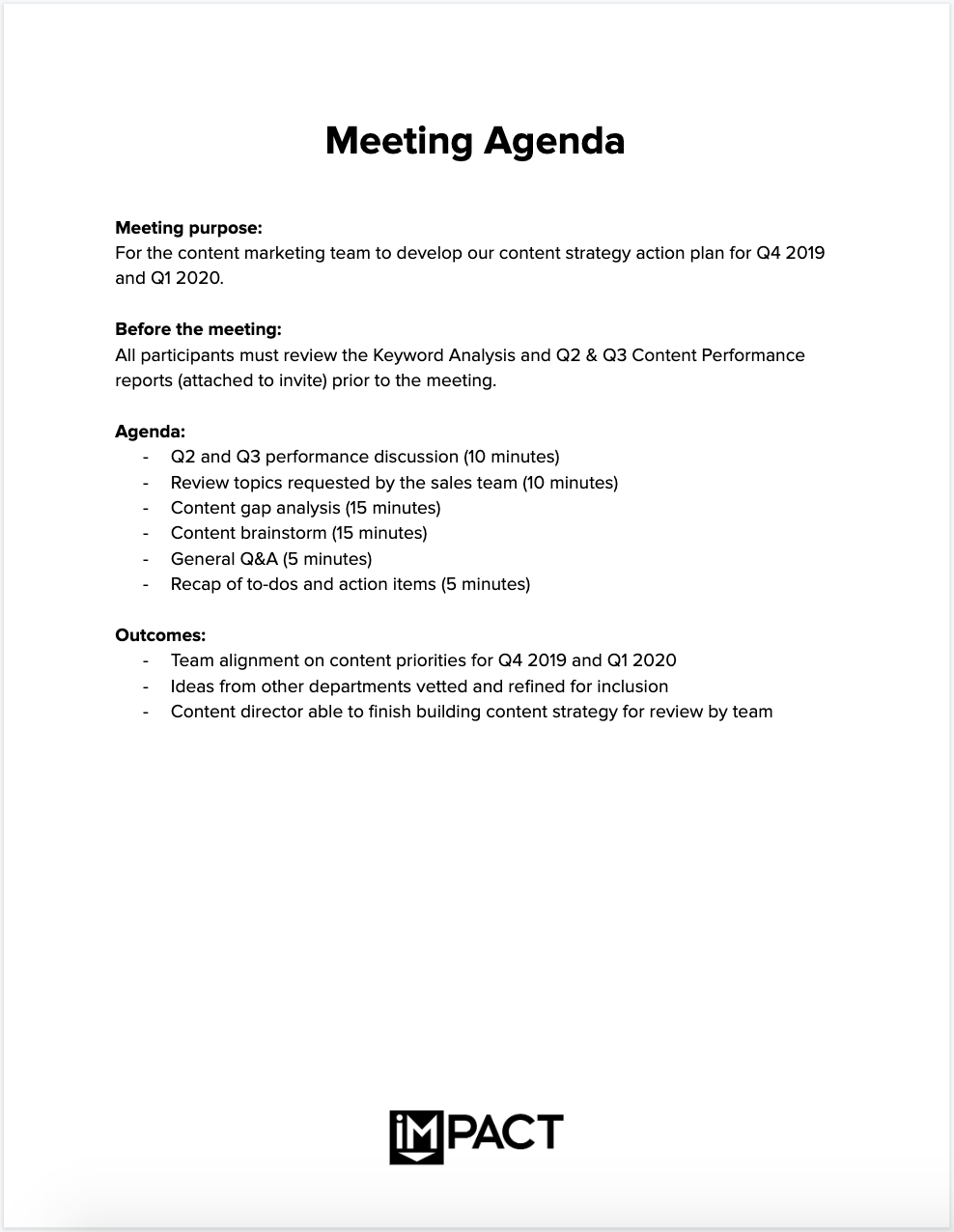 The Only Meeting Agenda Template You Ll Ever Need Meeting Tips