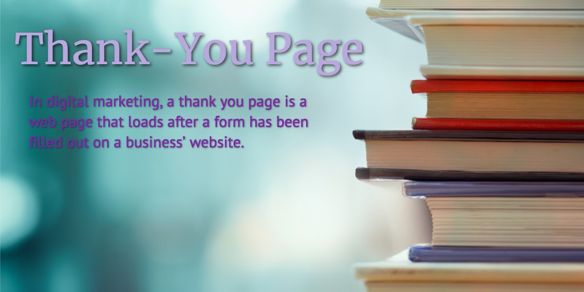 Definition of a Thank-You Page (In Under 100 Words)