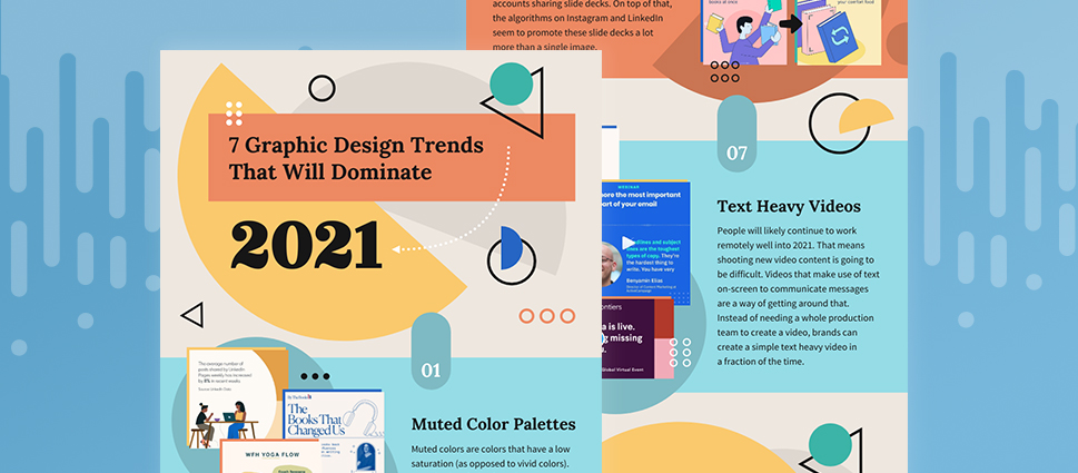 7 graphic design trends that will dominate 2021 [Infographic]