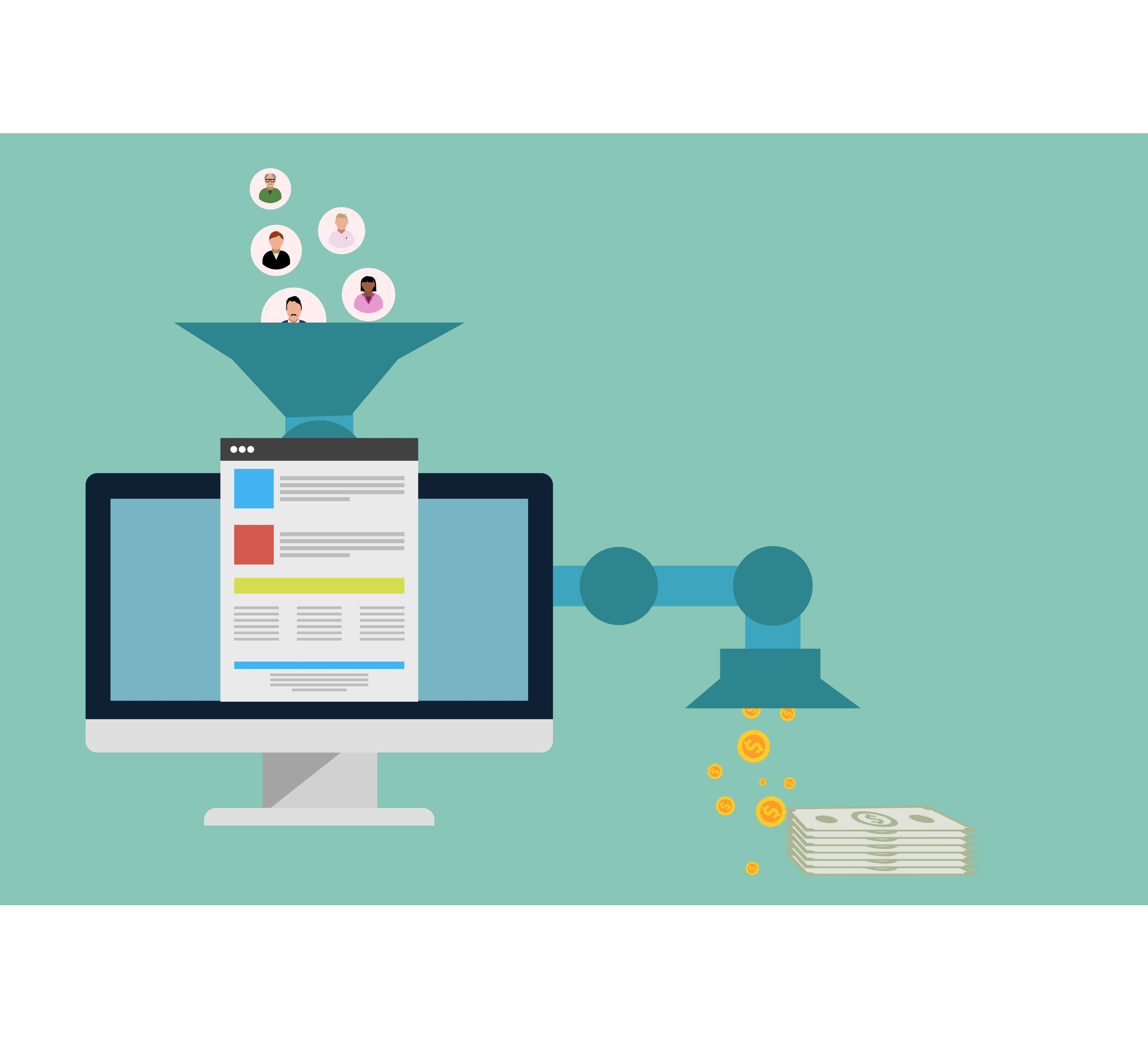 What is the content marketing funnel and how does it work?
