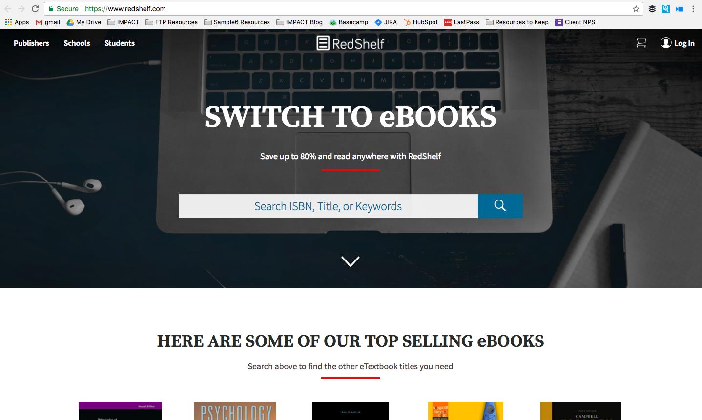 Page d'accueil de RedShelf.png