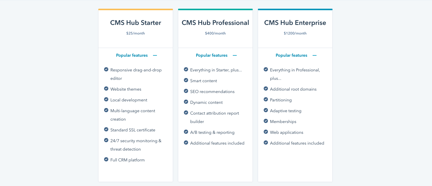 New HubSpot CMS Hub starter tier released for growing businesses