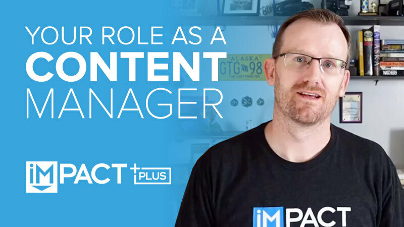 Your role as a content manager
