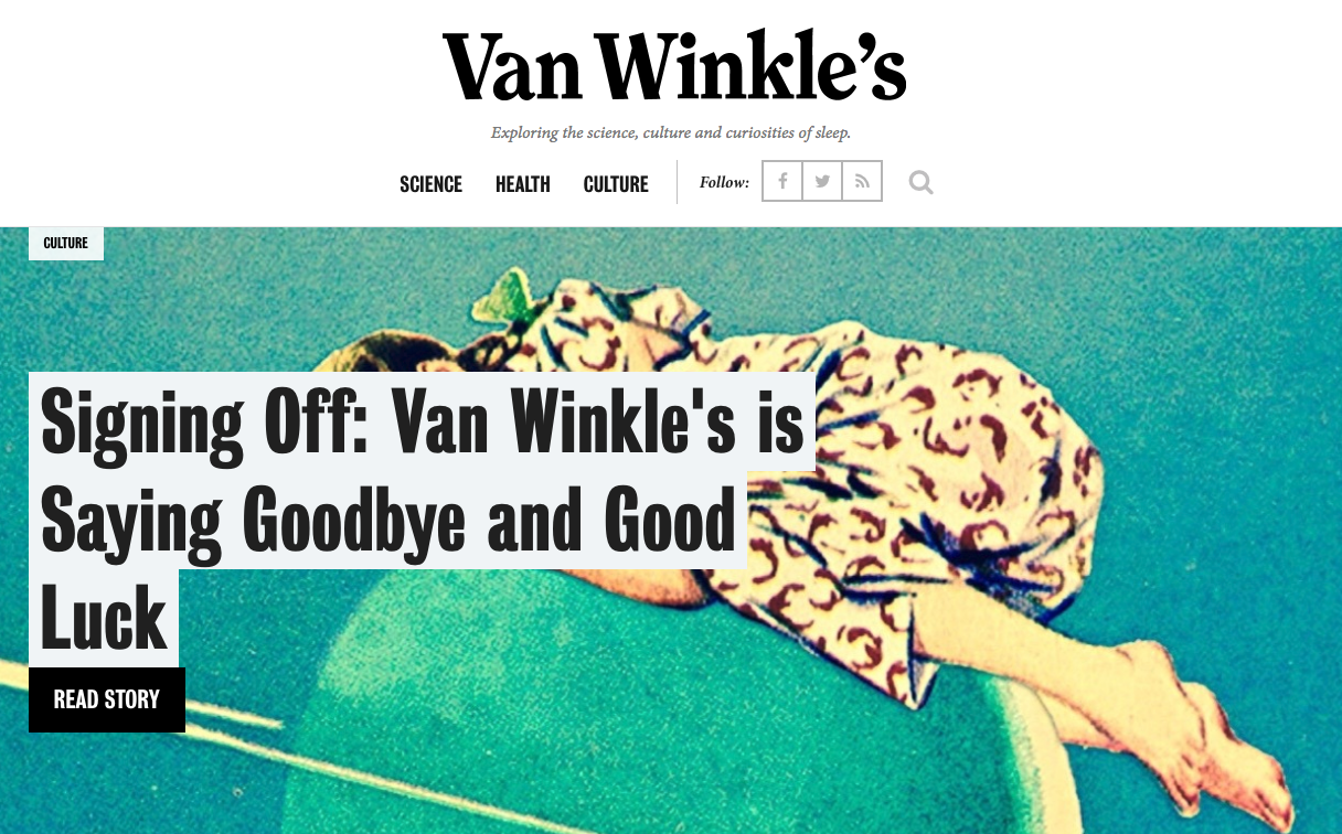 """Does Casper's Closing of """"Van Winkle's"""" Publication Really Show the Limits of Brand Publishing?"""